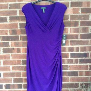 NWT Lauren Ralph Lauren purple dress Sz 12P